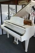 White Gloss Baby Grand Piano 4'7