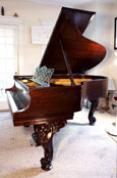 (SOLD)Art Case Steinway Grand Piano Model O, Mahogany See SONNY'S PianoTV  Video Tour
