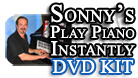 Sonnys Play Piano Instantly DVD Kit