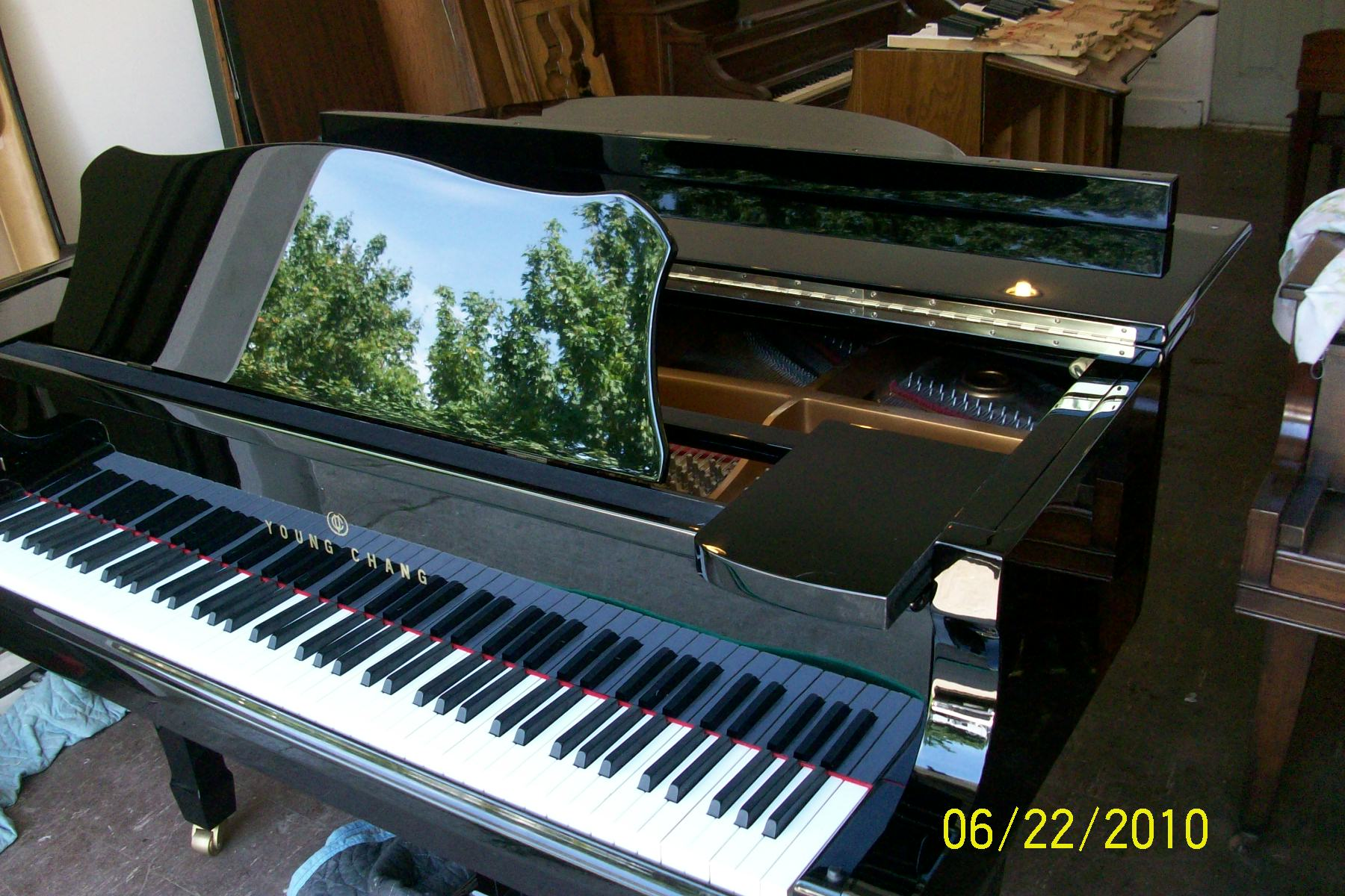 (SOLD- Congratualtions Marilyn/Jazz) Ebony Gloss Young Chang Baby Grand Piano 4'11