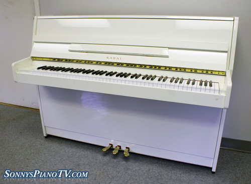 (SOLD) White Gloss Kawai Piano Studio Upright 1994
