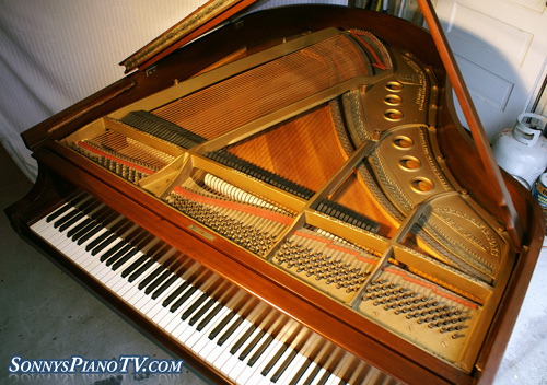 how to take apart a kimball piano