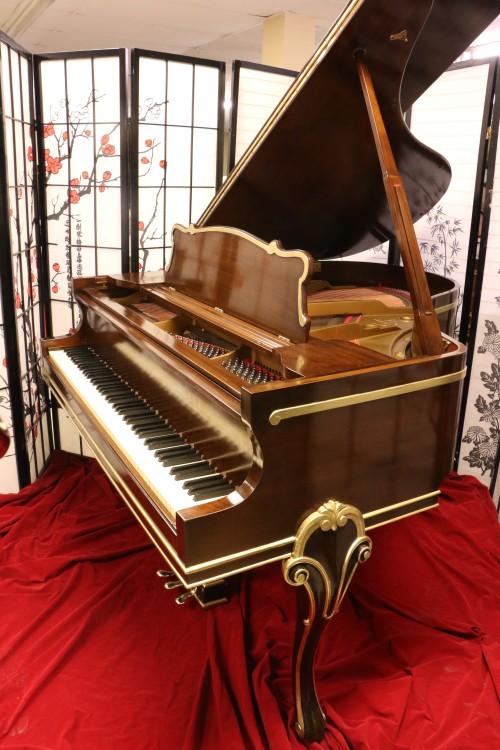 Sohmer Art Case Baby Grand Piano Refinished Reblt Gold