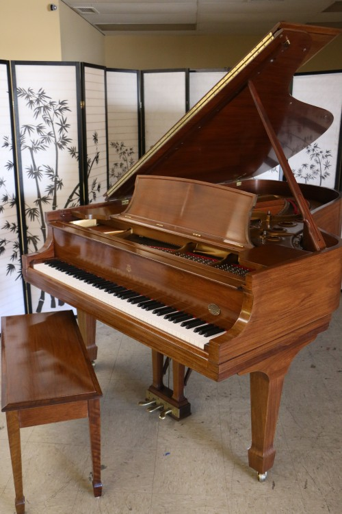 Art case steinway b 1995 crown jewel santos rosewood for Big grand piano