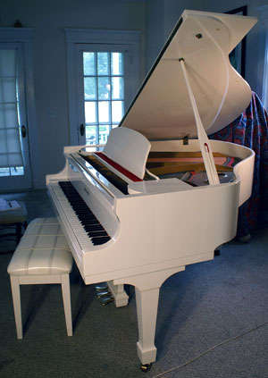 Piano For Sale Schumann Baby Grand White Gloss 5 Mint